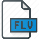 document, file, film, flash, flv, video icon