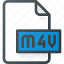 document, file, film, m4v, video icon