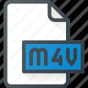 m4v, document, video, file, film icon