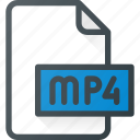 document, file, film, mp4, video icon