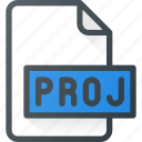 document, file, film, proj, project, video icon