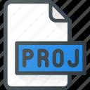 project, video, proj, file, document, film icon