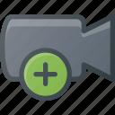 movie, record, add, camera, cam, film icon