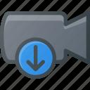 movie, record, camera, cam, download, film icon