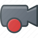movie, record, camera, cam, rec, film icon