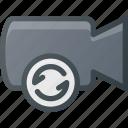 movie, refresh, record, camera, cam, film icon