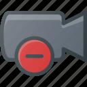 movie, remove, record, camera, cam, film icon