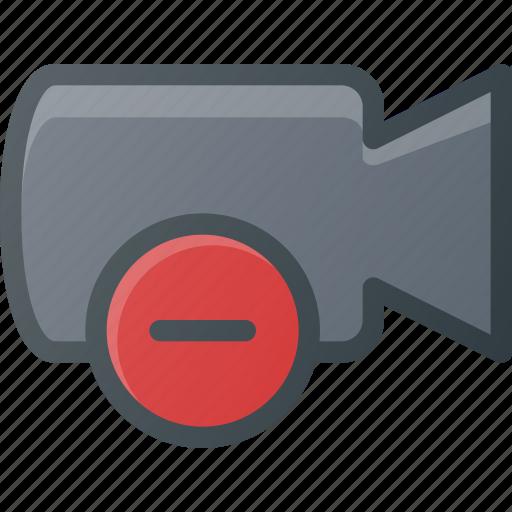 cam, camera, film, movie, record, remove icon