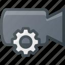 settings, movie, record, camera, cam, film icon