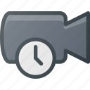 cam, camera, film, movie, record, time, timer icon