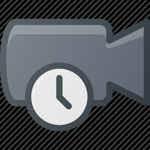 cam, camera, film, movie, record, time, timer icon