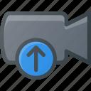 movie, upload, record, camera, cam, film icon