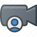cam, camera, film, movie, record, user icon