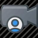movie, record, camera, user, cam, film icon