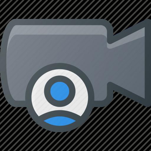 cam, camera, film, movie, record, user icon