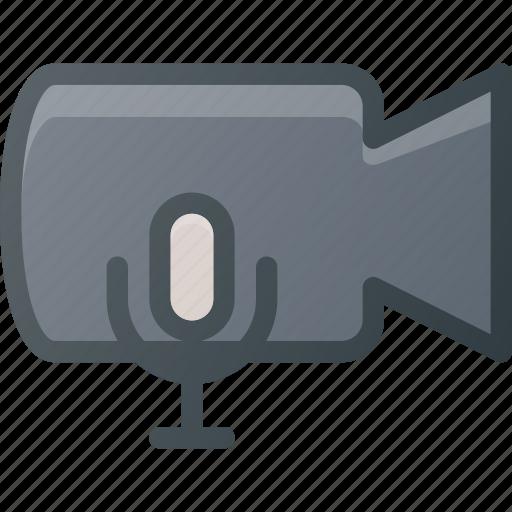 cam, camera, film, movie, record, sound, voice icon