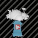 upload, video, cloud