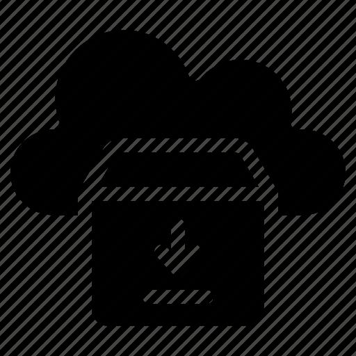 cloud computing, cloud hosting, cloud parcel, cloud storage, cloud technology icon