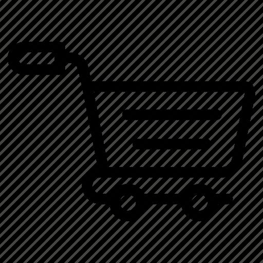 buying cart, grocery cart, purchasing cart, shopping cart, shopping trolley icon