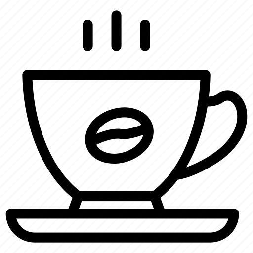 coffee cup, cup with saucer, hot tea, kitchen items, tea cup icon