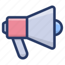 announcement, communication, loudspeaker, megaphone, megaphone announcement, promotion icon