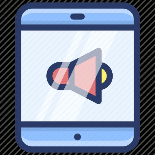 mobile marketing, mobile promotion, online advertisnet, smartphone promotion, smartphone volume icon