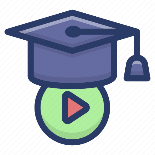educational video, video based learning, video learning student, video production study, videography education icon