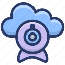 cloud computing, cloud device, cloud hosting, cloud technology, cloud webcam icon