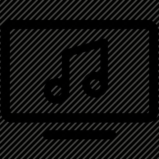 lyrics, multimedia, music, song, video icon