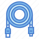 cable, connector, data, usb icon