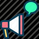 video, content, advertisement, marketing, message, megaphone