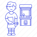 2, arcade, fashioned, female, game, gamer, old, retro, video, vintage icon