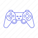 analog, consoles, controller, game, gamepad, playstation, ps2, stick, video, yellow icon