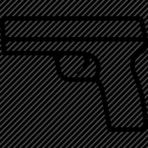 crime, firearm, gun, handgun, pistol, shooting, weapon icon