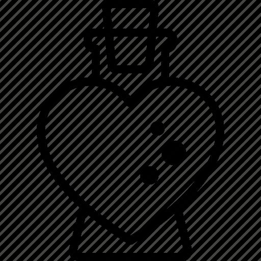 affection, bottle, heart, love, potion, romance, seduction icon