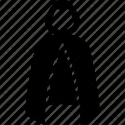 armor, cape, cloak, disguise, invisibility, mantle, robe icon