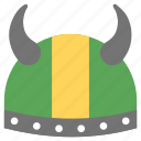 armor, barbarian, head protector, horned hat, viking helmet icon