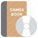 digital gaming, game cd, game disk, games book, video game icon