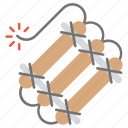 bomb, danger, explosive weapon, firework, nuclear material icon