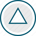 play, playstation, ps, triangle icon