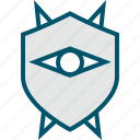 eye, mask, shield icon