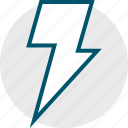 fast, lightning, power, shock icon