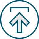 arrow, pointer, up, upload icon