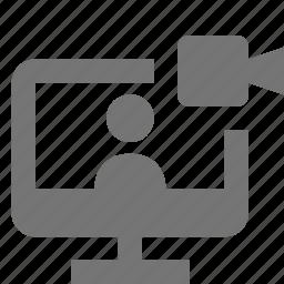 camera, computer, monitor, video icon