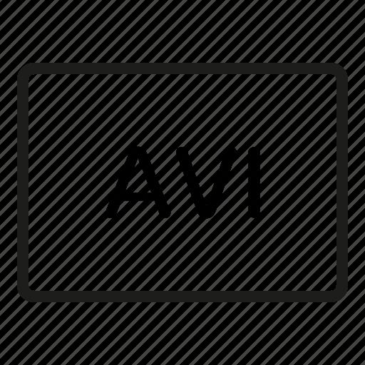 avi, avi icon, extension, files, filetype, format, formats icon