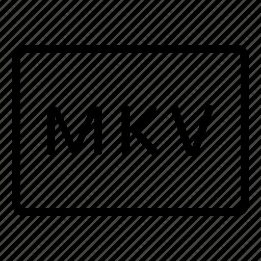 filetype, format, formats, mkv, type, video, video type icon