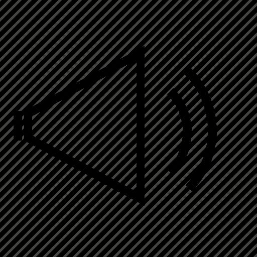 multimedia, speaker, up, video, volume, volume button, volume up icon