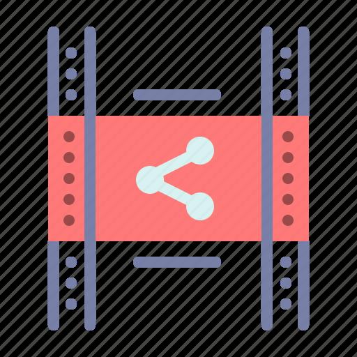 distribution, film, movie, p2p, share icon