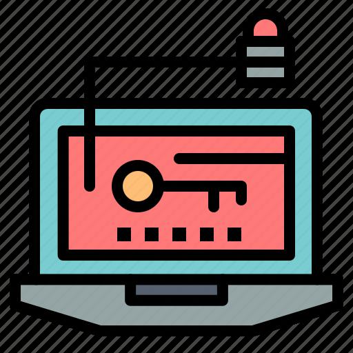 access, computer, hardware, key, laptop icon
