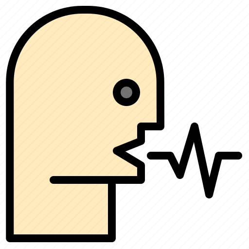 audio, human, person, speech, talk icon